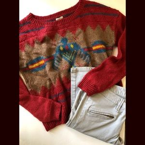 Ecote Urban Outfitters Aztec Crew Neck